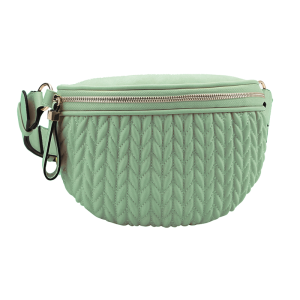 handbag republic CTJY-0017 waist pack quilted mint green