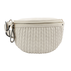 handbag republic CTJY-0017 waist pack quilted white