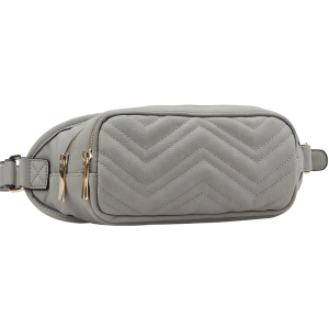 handbag republic CTJY-0018 waist pack chevron gray