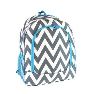 luggage 6016 chevron backpack gray turquoise