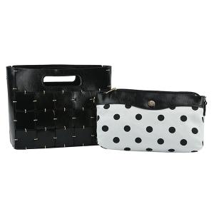 Handbag Republic D-0594 2 in 1 crossbody polka dot black