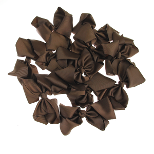 12 pack Bow set clip black colored hairclips brown