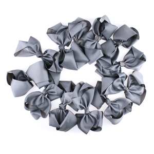 12 pack Bow set clip dark gray