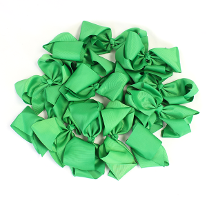 12 pack Bow set clip green colored hairclip