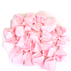 12 pack Bow set clip pink colored hairclips