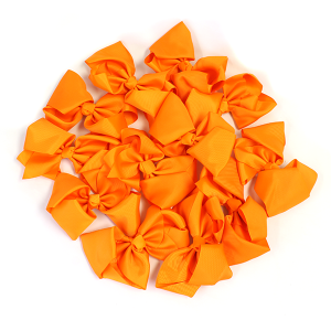 12 pack Bow set clip orange colored hairclip