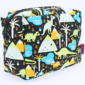 luggage 1009 toiletry bag dinosaur black