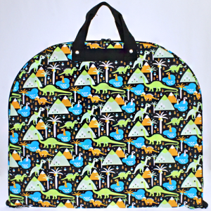 luggage garment bag dinosaur black multi