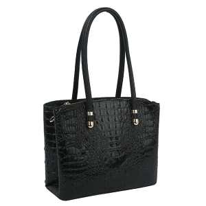 Handbag Republic DX-0108 croc top handle satchel black