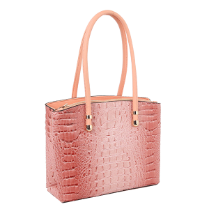 Handbag Republic DX-0108 croc top handle satchel blush pink