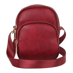 Handbag Republic DX-0114 round zipper crossbody bag berry