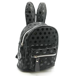 Polka dot bunny ears mini backpack unica EBP-1165 black