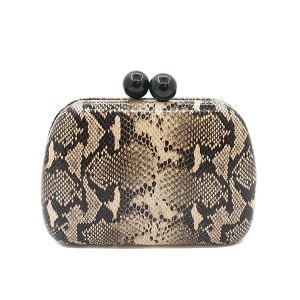 Toami EG10173 evening bag clutch snake brown