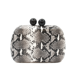 Toami EG10173 evening bag clutch snake ivory