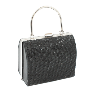 Toami EG10214 evening bag clutch rhinestone black