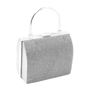 Toami EG10214 evening bag clutch rhinestone silver