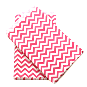 display 6x9 jewelry paper bag chevron pink