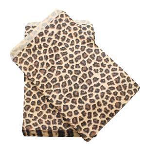 display 6x9 jewelry paper bag leopard brown