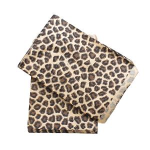 display 5x7 jewelry paper bag leopard brown