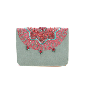 La Chic EXAP37051 bifold floral wallet pink