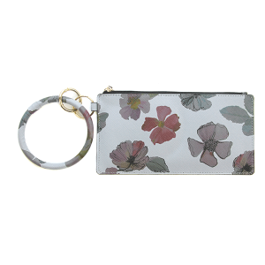 Wallet FK0187 Tell Your Tale wrist zip wallet floral gray