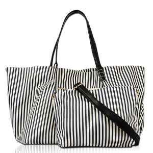 Vieta FL 1622 Ivanna shoulder tote stripe navy
