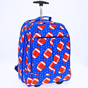 luggage 6018 rolling computer backpack football royal blue