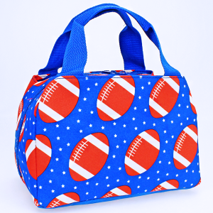 luggage 8010 lunch box football royal blue