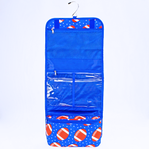 luggage 8012 hanging cosmetic case football royal blue