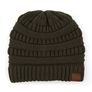 Winter CC Beanie 391 classic solid knit moss