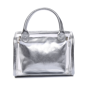 Nima HBG102131 2 in 1 transparent satchel silver