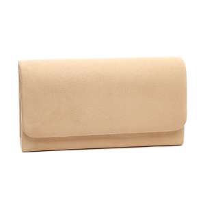 Nima HBG102350 evening bag suede beige