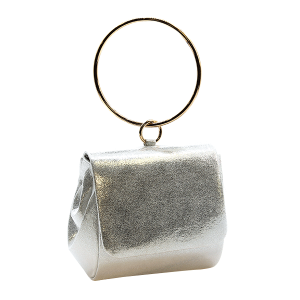 Nima HBG102424 evening bag glitter wristlet silver