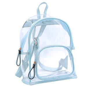 Wholesale Clear See-Through Fashion Backpack in Sky Blue