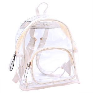Wholesale Clear See-Through Fashion Backpack in Ivory White