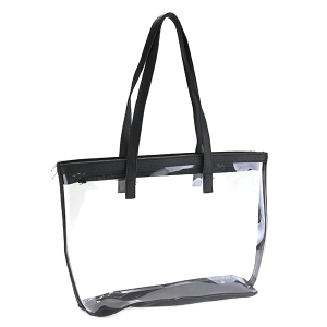 Nima HBG 102752 transparent clear tote black