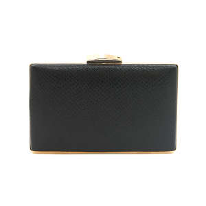 Nima HBG102920 evening bag hard case faux leather black