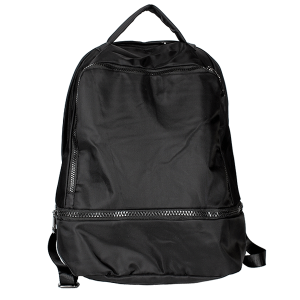 Nima HBG102935 nylon multi pocket backpack black