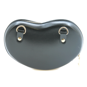 Nima HBG 103207 heart shaped clutch black