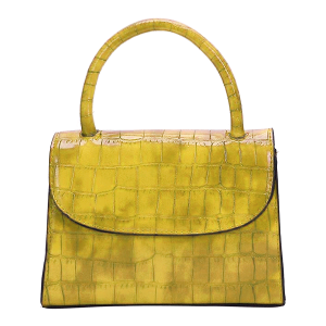 Nima HBG103250 fashion mini croc satchel mustard yellow