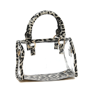 Nima HBG103279 transparent satchel leopard black