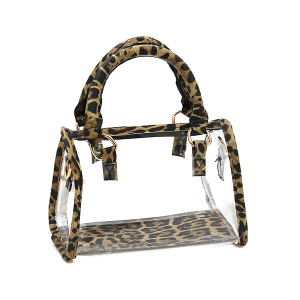 Nima HBG103279 transparent satchel leopard brown