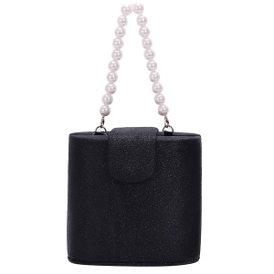 Nima HBG103357 Glitter mini evening bag black