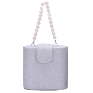 Nima HBG103357 Glitter mini evening bag silver