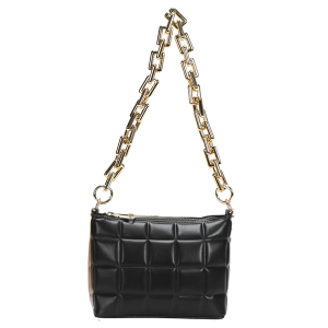 Nima HBG103585 quilted fashion shoulder bag crossbody black