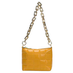 Nima HBG103585 quilted fashion shoulder bag crossbody mustard yellow