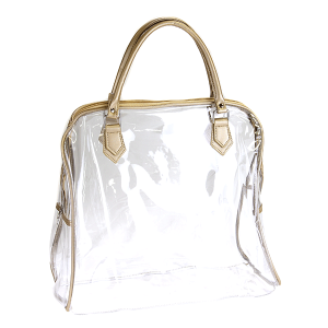 Nima HL 00369 transparent clear shoulder bag gold