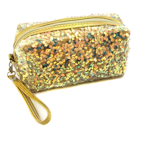Nima HM00470 cosmetic pouch sequin gold