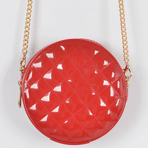 3AM HPC3126 round jelly quilted mini crossbody red