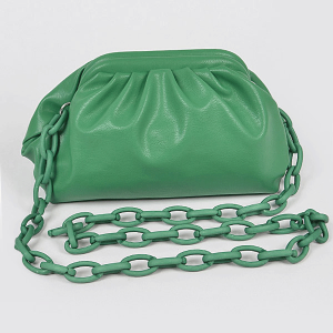 3AM HPC3454 plastic link chain clutch green